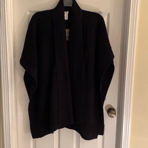 J Jill NWT one size black sweater wrap ruana